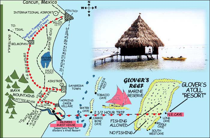 Glovers Atoll Resort Belize – Belize Travel Map